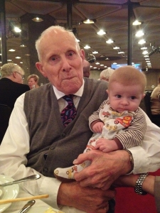 Lyndon Twiss and Matthew Cantelon - oldest and youngest observers at synod